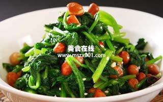 减肥食谱:减肥菜谱之凉拌菠菜